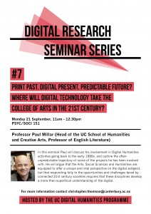 Digital Research Seminar#7 poster